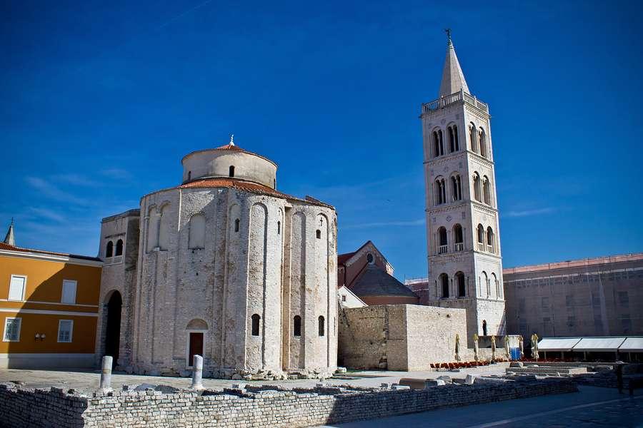 Kościół św. Donatana w Zadarze, w którym odbywają się znakomite koncerty