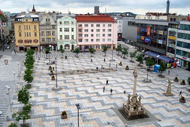 Plac Tomasza Masaryka iStary Ratusz wOstrawie