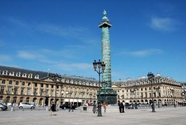 Plac Vendome i kolumna ku czci Napoleona Bonaparte
