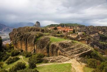 Klasztor św. Trójcy jeden z najstarszych na Meteorach